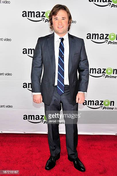 Actor Haley Joel Osment arrives at Amazoncom red carpet launch party for 'Alpha House' and 'Betas' Los Angeles Premieres at Boulevard3 on November 6...