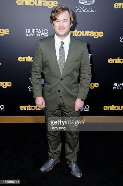Actor Haley Joel Osment arrives at Warner Bros Pictures Premiere of 'Entourage' at Regency Village Theatre on June 1 2015 in Westwood California