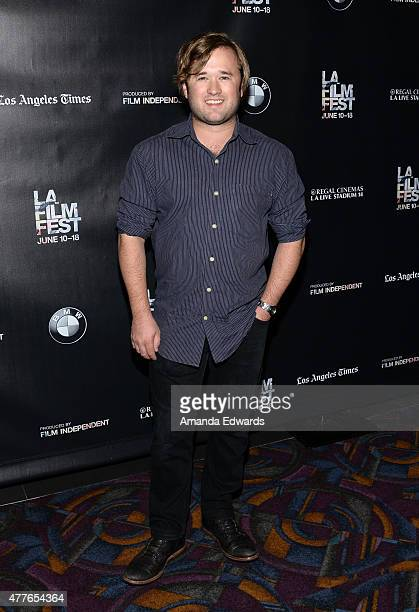 Actor Haley Joel Osment attends the closing night live read of 'Fast Times at Ridgemont High' directed by Eli Roth during the 2015 Los Angeles Film...