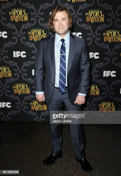 Actor Haley Joel Osment attends the premiere of IFC's 'The Spoils Of Babylon' at DGA Theater on January 7 2014 in Los Angeles California