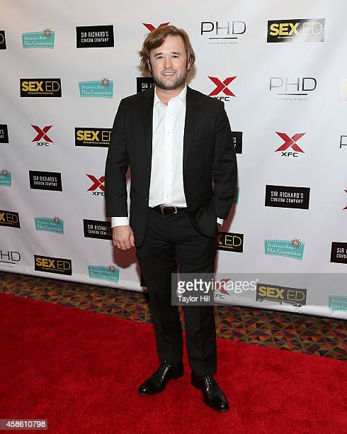 Actor Haley Joel Osment attends the 'Sex Ed' New York premiere at AMC Empire 25 theater on November 7 2014 in New York City