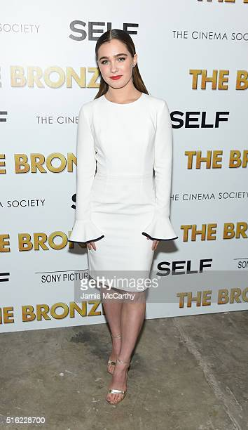 Actor Haley Lu Richardson attends a screening of Sony Pictures Classics' 'The Bronze' hosted by Cinema Society SELF at Metrograph on March 17 2016 in...