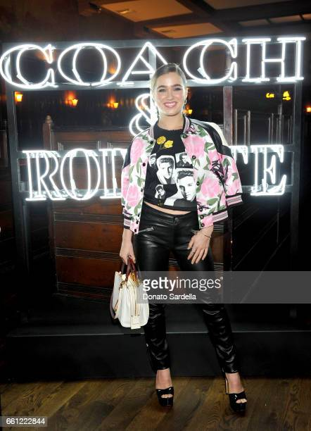 Actor Haley Lu Richardson attends the Coach Rodarte celebration for their Spring 2017 Collaboration at Musso Frank on March 30 2017 in Hollywood...