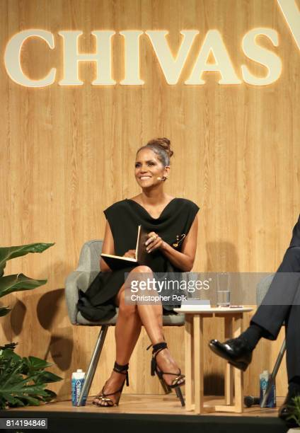 Actor Halle Berry at The Chivas Venture $1m Global Startup Competition at LADC Studios on July 13 2017 in Los Angeles California
