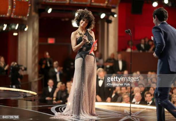 Actor Halle Berry presents the Best Director award at the 89th Annual Academy Awards at Hollywood Highland Center on February 26 2017 in Hollywood...