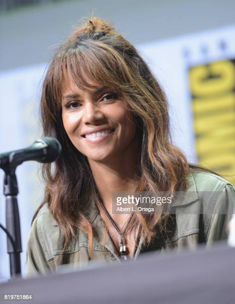 Actor Halle Berry speaks onstage at the 20th Century FOX panel during ComicCon International 2017 at San Diego Convention Center on July 20 2017 in...