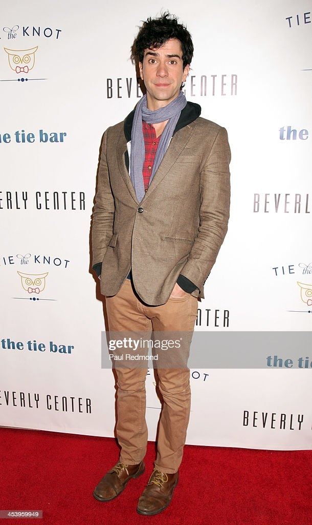 Actor Hamish Linklater arrives at 'Tie The Knot' Store Grand Opening with founder Jesse Tyler Ferguson at The Beverly Center on December 5, 2013 in Los Angeles, California.