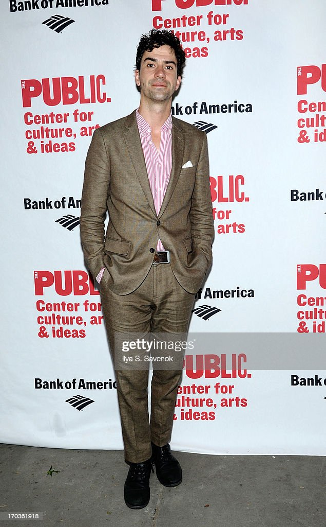 Actor <a gi-track='captionPersonalityLinkClicked' href=/galleries/search?phrase=Hamish+Linklater&family=editorial&specificpeople=646154 ng-click='$event.stopPropagation()'>Hamish Linklater</a> attends Annual Public Theater Gala at Delacorte Theater on June 11, 2013 in New York City.