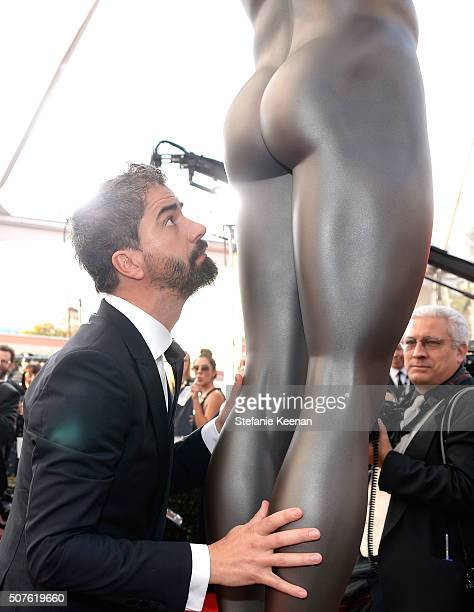Actor Hamish Linklater attends The 22nd Annual Screen Actors Guild Awards at The Shrine Auditorium on January 30 2016 in Los Angeles California...