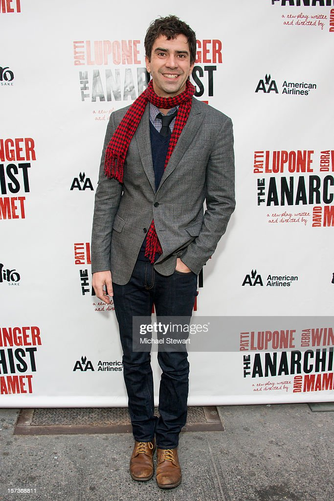 Actor <a gi-track='captionPersonalityLinkClicked' href=/galleries/search?phrase=Hamish+Linklater&family=editorial&specificpeople=646154 ng-click='$event.stopPropagation()'>Hamish Linklater</a> attends 'The Anarchist' Broadway Opening Night at John Golden Theatre on December 2, 2012 in New York City.