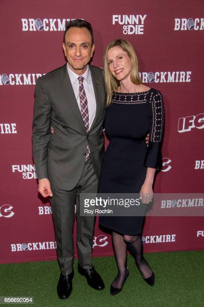 Actor Hank Azaria and Katie Wright attend the 'Brockmire' red carpet event at 40 / 40 Club on March 22 2017 in New York City