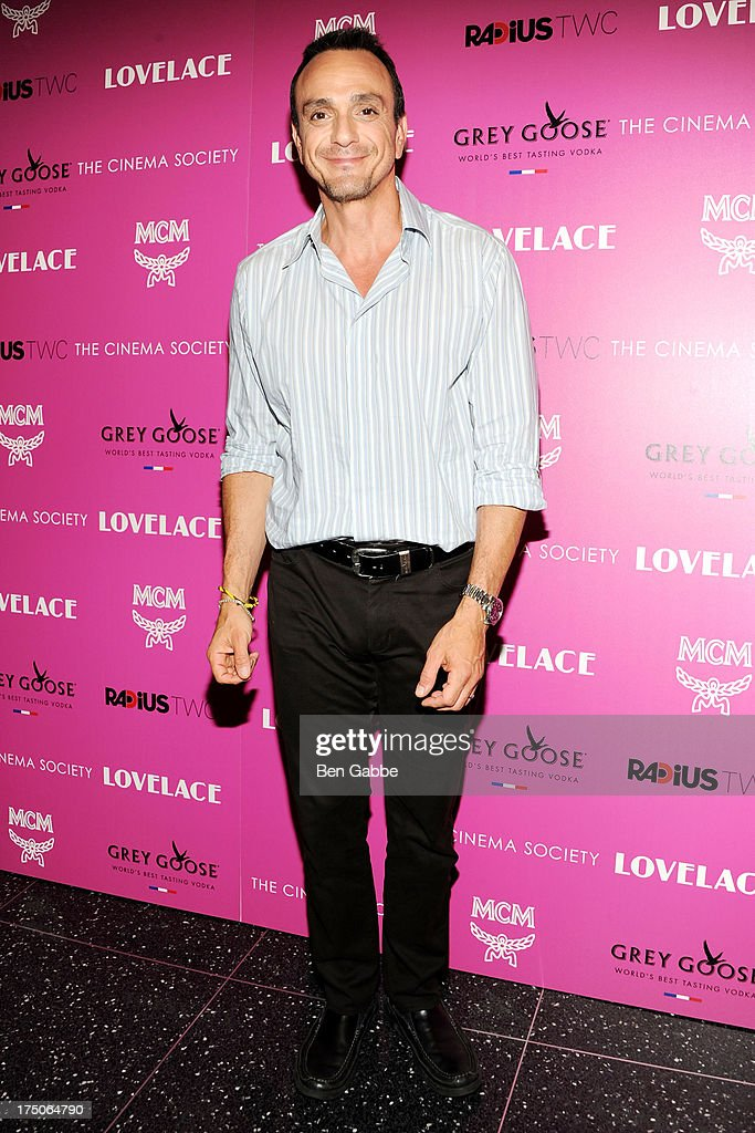 Actor Hank Azaria attends The Cinema Society and MCM with Grey Goose host a screening of Radius TWC's 'Lovelace' at The Museum of Modern Art on July 30, 2013 in New York City.