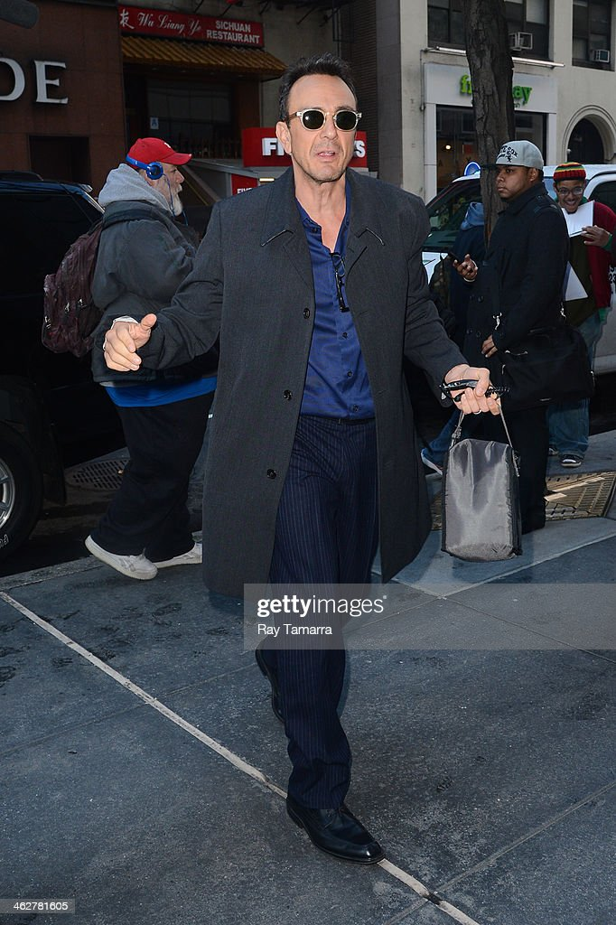 Actor Hank Azaria enters the 'Today Show' taping at the NBC Rockefeller Center Studios on January 15, 2014 in New York City.