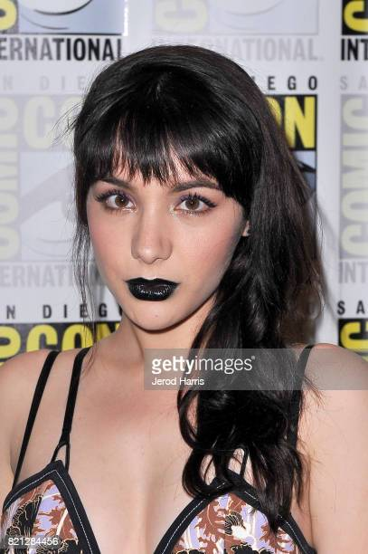 Actor Hannah Marks at BBC AMERICA'S San Diego ComicCon Press Line with the Stars and Producers of 'Dirk Gently's Holistic Detective Agency' and...