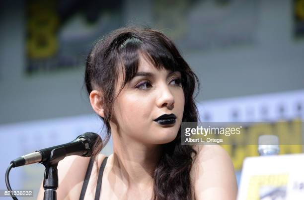 Actor Hannah Marks at Dirk Gently's Holistic Detective Agency BBC America Official Panel during ComicCon International 2017 at San Diego Convention...