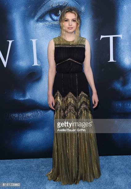 Actor Hannah Murray arrives at the premiere of HBO's 'Game Of Thrones' Season 7 at Walt Disney Concert Hall on July 12 2017 in Los Angeles California