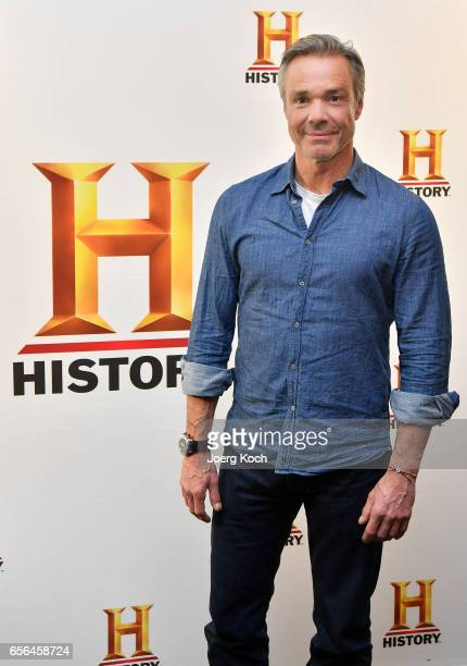 Actor Hannes Jaenicke attends the press conference by German TV channel HISTORY announcing the new documentary series 'Guardians of Heritage' at...