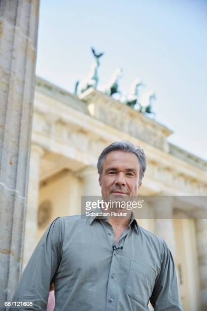 Actor Hannes Jaenicke is seen on set during the shooting of the new documentary series 'Guardians of Heritage Hueter der Geschichte' by German TV...