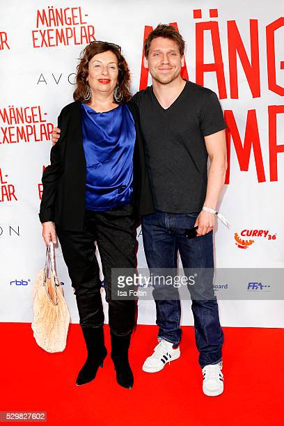 Actor Hanno Koffler and guest attend the German premiere of the film 'Maengelexemplar' at Cinestar Kulturbrauerei on May 9 2016 in Berlin Germany