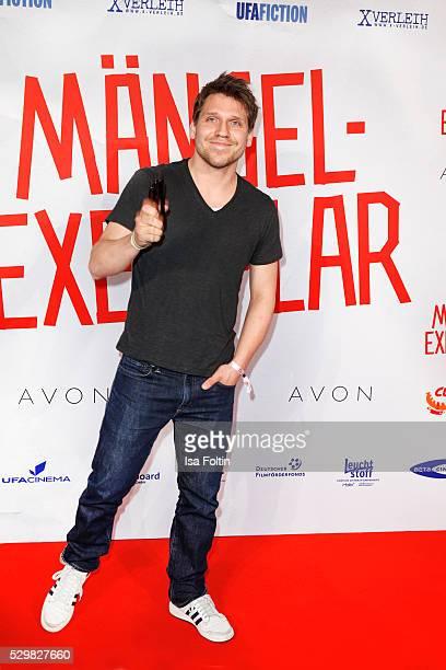 Actor Hanno Koffler attends the German premiere of the film 'Maengelexemplar' at Cinestar Kulturbrauerei on May 9 2016 in Berlin Germany