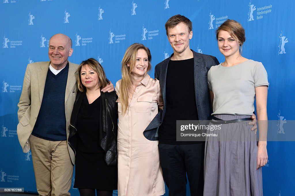 Actor Hanns Zischler, director Asli Oezge, actors <a gi-track='captionPersonalityLinkClicked' href=/galleries/search?phrase=Julia+Jentsch&family=editorial&specificpeople=217557 ng-click='$event.stopPropagation()'>Julia Jentsch</a>, Sebastian Huelk and <a gi-track='captionPersonalityLinkClicked' href=/galleries/search?phrase=Luise+Heyer&family=editorial&specificpeople=12459158 ng-click='$event.stopPropagation()'>Luise Heyer</a> attend the 'All Of A Sudden' photo call during the 66th Berlinale International Film Festival Berlin at Grand Hyatt Hotel on February 12, 2016 in Berlin, Germany.