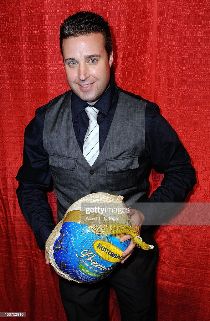 Actor Hans Hernke arrives for Jackson Limousine Homeless Turkey Drive Red Carpet Gala held at Infusion Lounge on November 19, 2012 in Universal City, California.