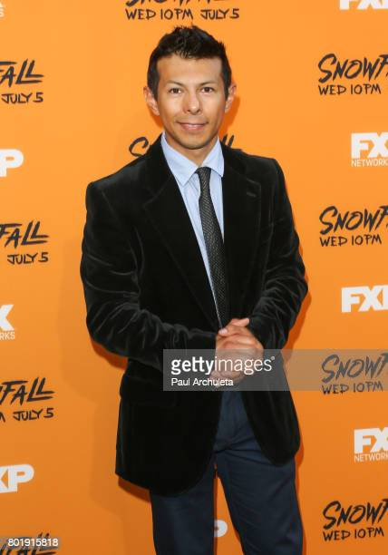 Actor Hansel Ramirez attends the premiere of FX's 'Snowfall' at The Theatre at Ace Hotel on June 26 2017 in Los Angeles California