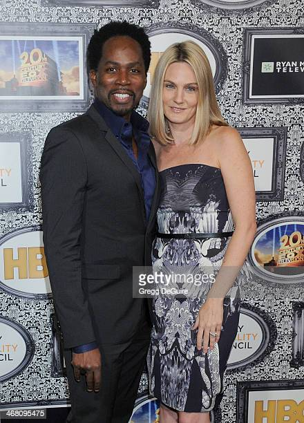 Actor Harold Perrineau and Brittany Perrineau arrive at the Family Equality Council's Annual Los Angeles Awards Dinner at The Globe Theatre on...