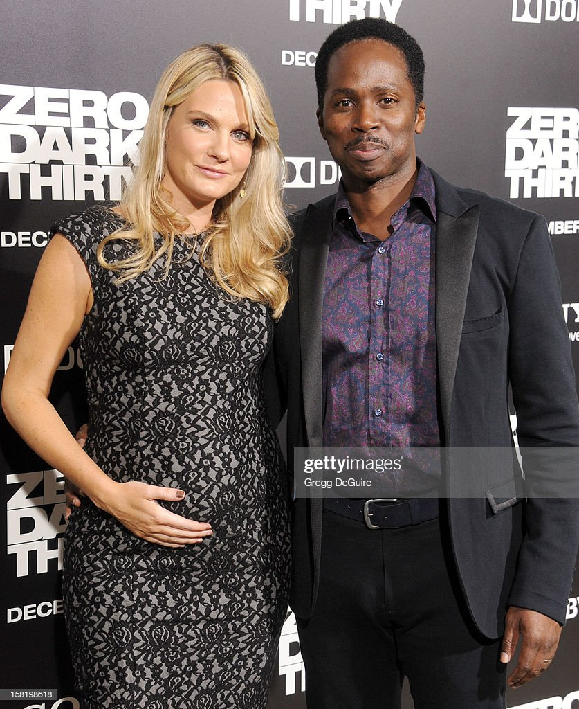 Actor Harold Perrineau and wife Brittany arrive at the Los Angeles premiere of 'Zero Dark Thirty' at the Dolby Theatre on December 10, 2012 in Hollywood, California.