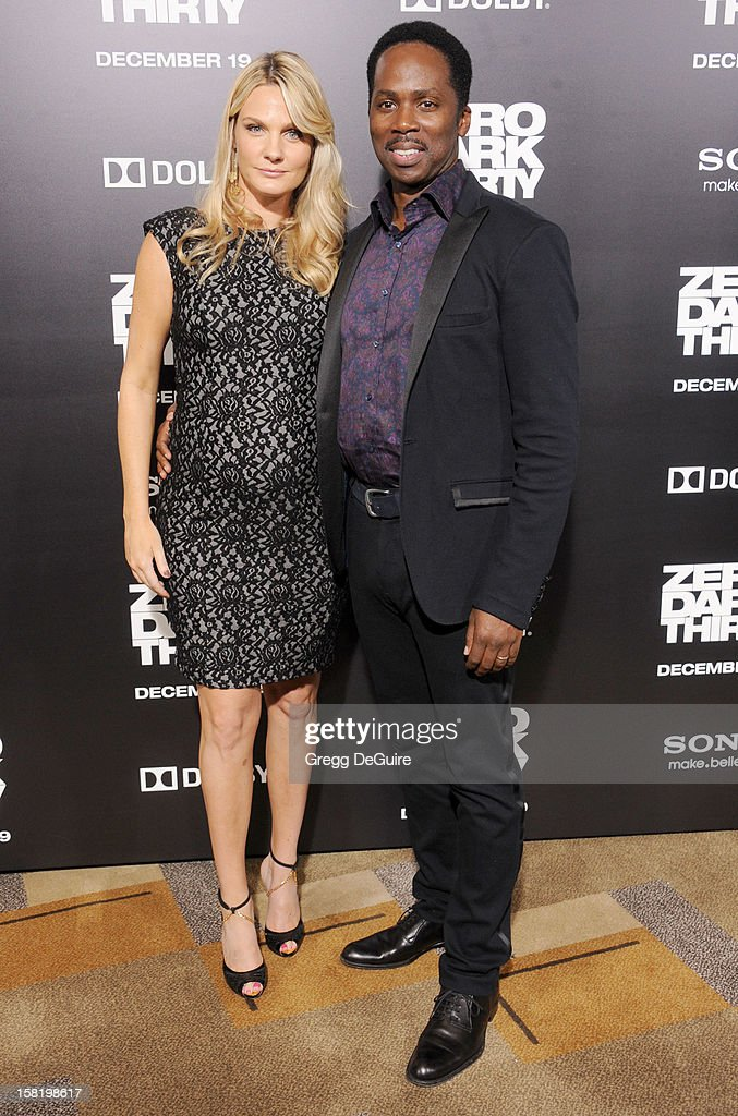 Actor Harold Perrineau (R) and wife Brittany Perrineau arrive at the Los Angeles premiere of 'Zero Dark Thirty' at the Dolby Theatre on December 10, 2012 in Hollywood, California.