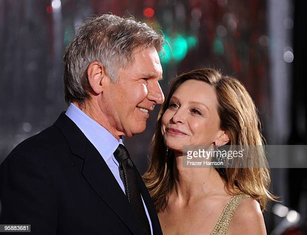 Actor Harrison Ford and Calista Flockhart actress arrives at the premiere of CBS Films' 'Extraordinary Measures' held at the Grauman's Chinese...