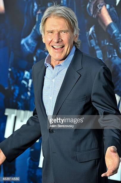 Actor Harrison Ford arrives at the Los Angeles premiere of Lionsgate Films' 'The Expendables 3' at TCL Chinese Theatre on August 11 2014 in Hollywood...