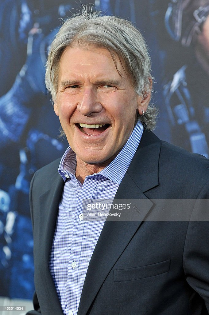 Actor <a gi-track='captionPersonalityLinkClicked' href=/galleries/search?phrase=Harrison+Ford+-+Actor+-+Born+1942&family=editorial&specificpeople=11508906 ng-click='$event.stopPropagation()'>Harrison Ford</a> arrives at the Los Angeles premiere of Lionsgate Films' 'The Expendables 3' at TCL Chinese Theatre on August 11, 2014 in Hollywood, California.
