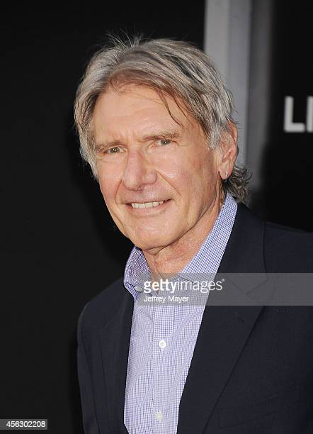 Actor Harrison Ford arrives at the Los Angeles premiere of 'The Expendables 3' at TCL Chinese Theatre on August 11 2014 in Hollywood...