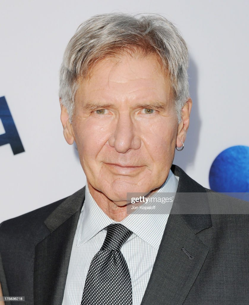Actor <a gi-track='captionPersonalityLinkClicked' href=/galleries/search?phrase=Harrison+Ford+-+Actor+-+Born+1942&family=editorial&specificpeople=11508906 ng-click='$event.stopPropagation()'>Harrison Ford</a> arrives at the Los Angeles Premiere 'Paranoia' at DGA Theater on August 8, 2013 in Los Angeles, California.