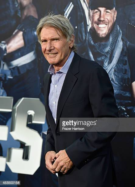 Actor Harrison Ford attends Lionsgate Films' 'The Expendables 3' premiere at TCL Chinese Theatre on August 11 2014 in Hollywood California