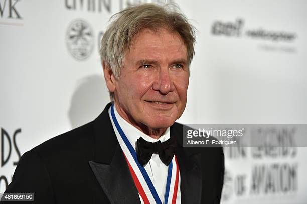 Actor Harrison Ford attends the 12th Annual 'Living Legends of Aviation' at The Beverly Hilton Hotel on January 16 2015 in Beverly Hills California