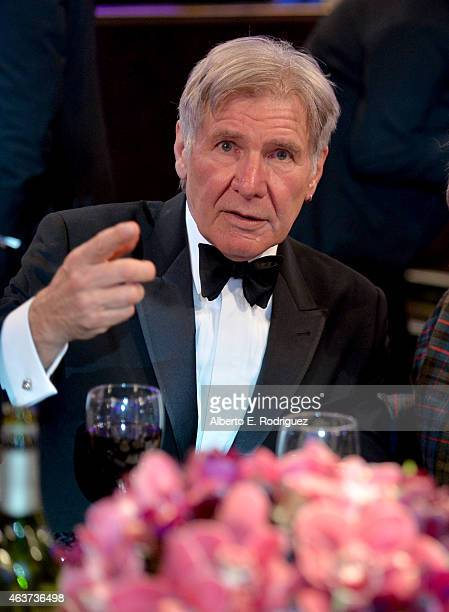Actor Harrison Ford attends the 17th Costume Designers Guild Awards with presenting sponsor Lacoste at The Beverly Hilton Hotel on February 17 2015...