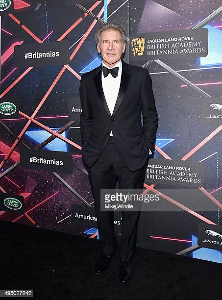 Actor Harrison Ford attends the 2015 Jaguar Land Rover British Academy Britannia Awards presented by American Airlines at The Beverly Hilton Hotel on...