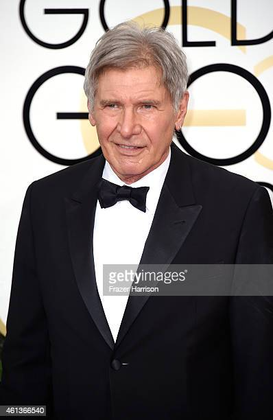 Actor Harrison Ford attends the 72nd Annual Golden Globe Awards at The Beverly Hilton Hotel on January 11 2015 in Beverly Hills California