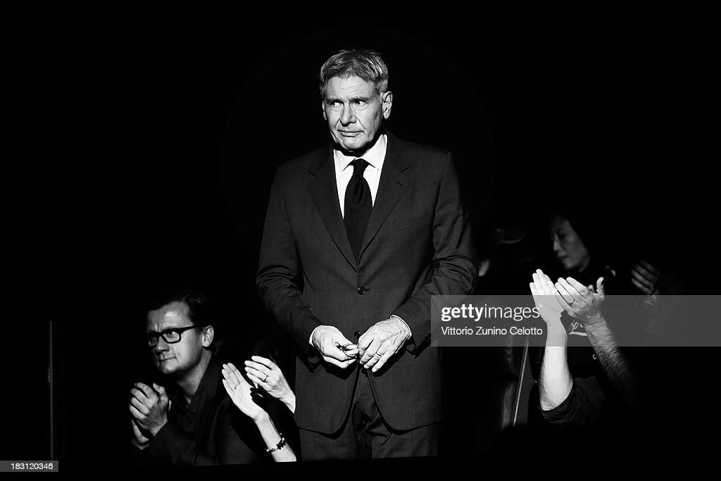 Actor <a gi-track='captionPersonalityLinkClicked' href=/galleries/search?phrase=Harrison+Ford+-+Actor+-+Born+1942&family=editorial&specificpeople=11508906 ng-click='$event.stopPropagation()'>Harrison Ford</a> attends the Golden Eye For Lifetime Achievement ceremony on October 4, 2013 in Zurich, Switzerland.