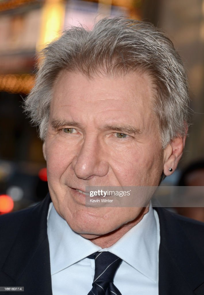 Actor <a gi-track='captionPersonalityLinkClicked' href=/galleries/search?phrase=Harrison+Ford+-+Actor+-+Born+1942&family=editorial&specificpeople=11508906 ng-click='$event.stopPropagation()'>Harrison Ford</a> attends the Los Angeles Premiere of Warner Bros. Pictures' and Legendary Pictures' '42' at TCL Chinese Theatre on April 9, 2013 in Hollywood, California.