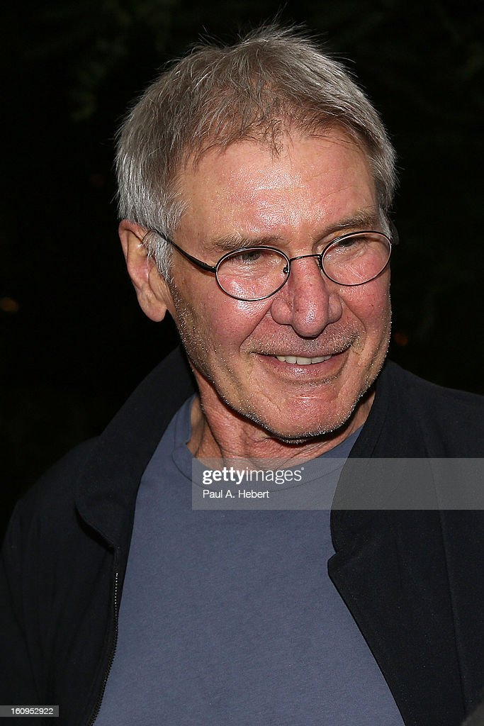 Actor <a gi-track='captionPersonalityLinkClicked' href=/galleries/search?phrase=Harrison+Ford+-+Actor+-+Born+1942&family=editorial&specificpeople=11508906 ng-click='$event.stopPropagation()'>Harrison Ford</a> attends The Morrison Hotel Gallery Opening At The Sunset Marquis on February 7, 2013 in West Hollywood, California.