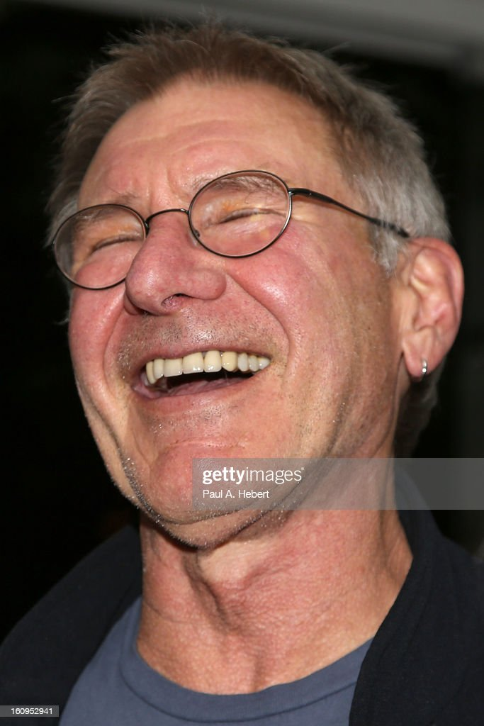 Actor Harrison Ford attends The Morrison Hotel Gallery Opening At The Sunset Marquis on February 7, 2013 in West Hollywood, California.