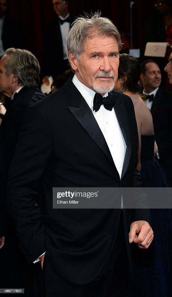 Actor Harrison Ford attends the Oscars held at Hollywood & Highland Center on March 2, 2014 in Hollywood, California.