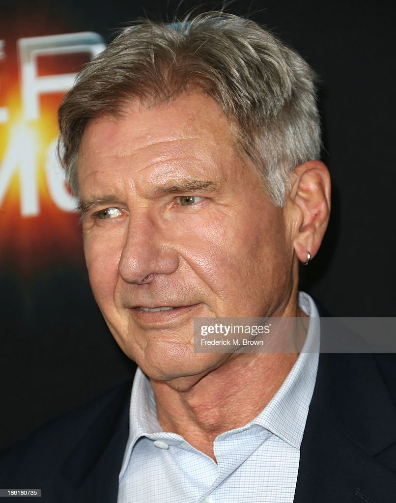 Actor Harrison Ford attends the Premiere of Summit Entertainment's 'Ender's Game' at the TCL Chinese Theatre on October 28, 2013 in Hollywood, California.