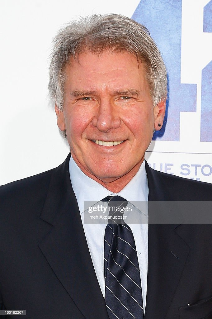 Actor <a gi-track='captionPersonalityLinkClicked' href=/galleries/search?phrase=Harrison+Ford+-+Actor+-+Born+1942&family=editorial&specificpeople=11508906 ng-click='$event.stopPropagation()'>Harrison Ford</a> attends the premiere of Warner Bros. Pictures' And Legendary Pictures' '42' at TCL Chinese Theatre on April 9, 2013 in Hollywood, California.