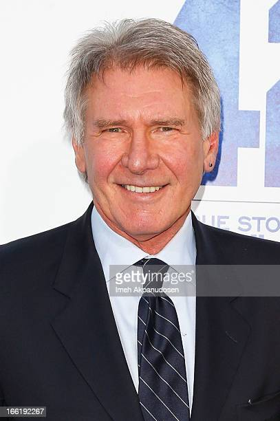 Actor Harrison Ford attends the premiere of Warner Bros Pictures' And Legendary Pictures' '42' at TCL Chinese Theatre on April 9 2013 in Hollywood...