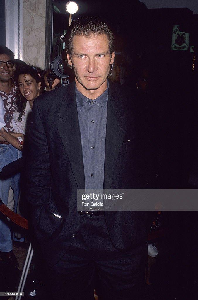 Actor Harrison Ford Attends The U0027Presumed Innocentu0027 Westwood Premiere On  July 25 1990 At
