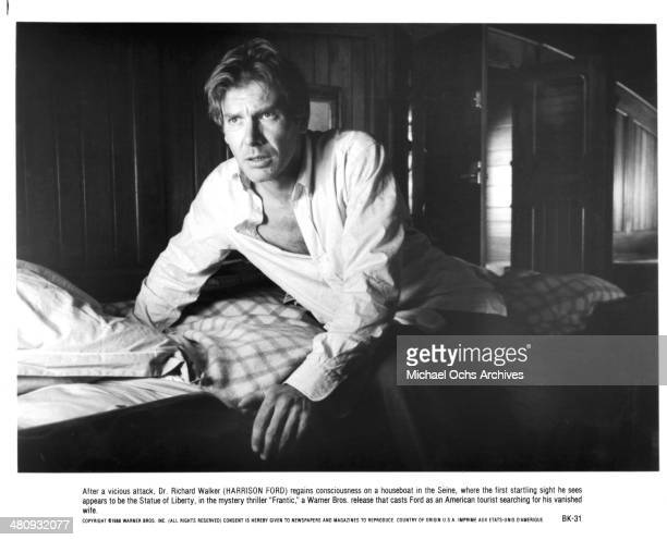 Actor Harrison Ford in a scene from the Warner Bros movie ' Frantic' circa 1988